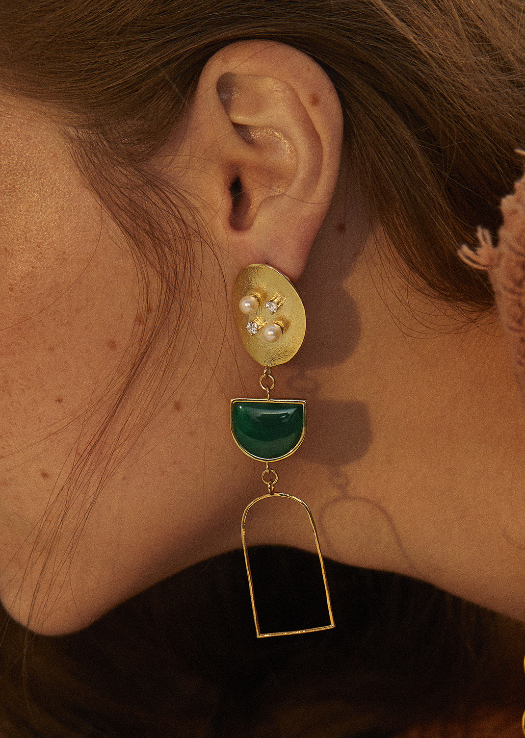 Classic round Drop Earring