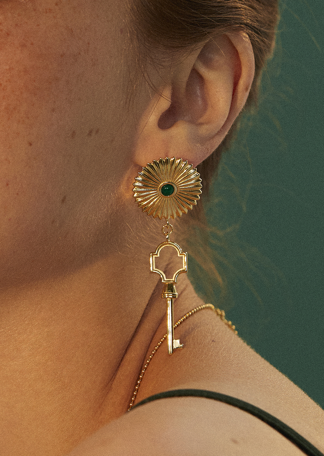 Classic Flower Key Earring